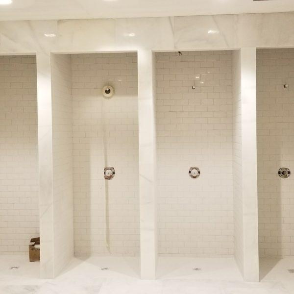 Floors bathroom tile installation